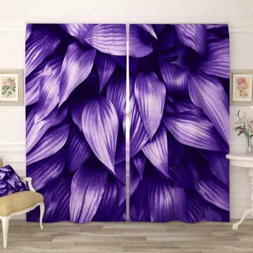 Фотошторы Тёмно-фиолетовые листья