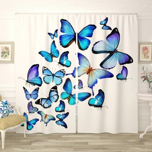 Фотошторы Яркие бабочки 3