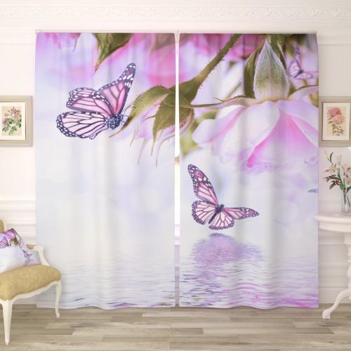 Фотошторы Сиреневые бабочки