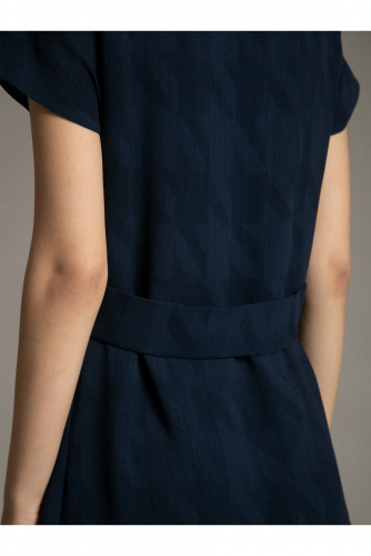 #94621 Платье (Emka Fashion) темно-синий