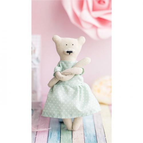 Мягкая игрушка «Домашний медведь Анастэйша», набор для шитья, 18 × 22 × 3.6 см