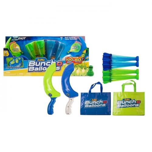 Супер набор Bunch O Balloons на двух игроков: 140 шаров, с двумя пусковыми устройствами и сумками