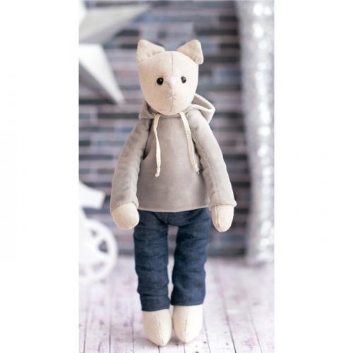 Мягкая игрушка «Домашний кот Элиот», набор для шитья, 18 × 22 × 3.6 см
