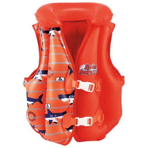 Жилет для плавания «Рыбки», 51 х 46 см, от 18-30 кг, от 3-6 лет, МИКС, 32156 Bestway