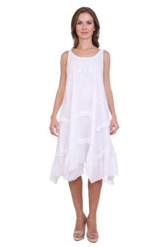Платье (хлопок) с вышивкой