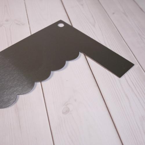 Шпатель угловой D04 металл, 19 см