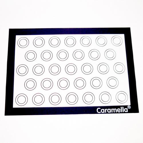 Коврик силиконовый армированный гладкий для макарун 40*30 см (33 круга по 2,5-4 см)