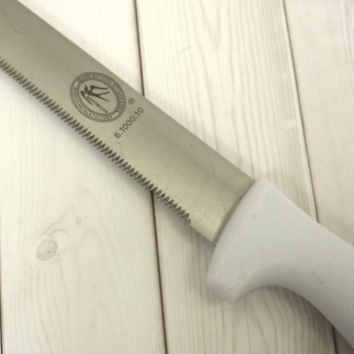 Нож для бисквита 25 см, пластиковая ручка, мелкие зубчики