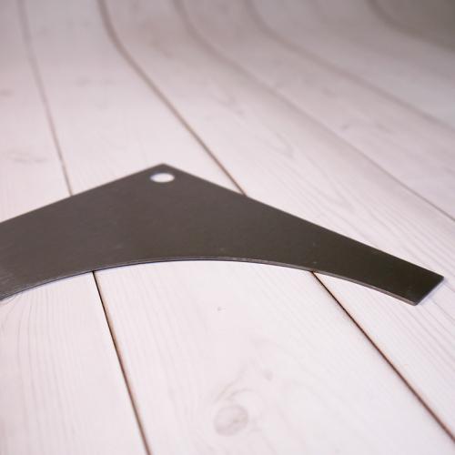 Шпатель полукруглый D06 металл, 17 см