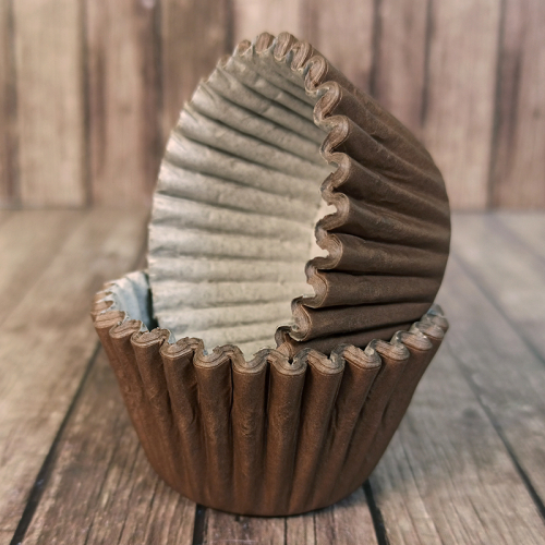 Капсулы бумажные для конфет Коричневые 35*30 мм, 1000 шт