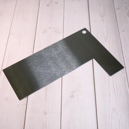 Шпатель угловой D02 металл, 19 см