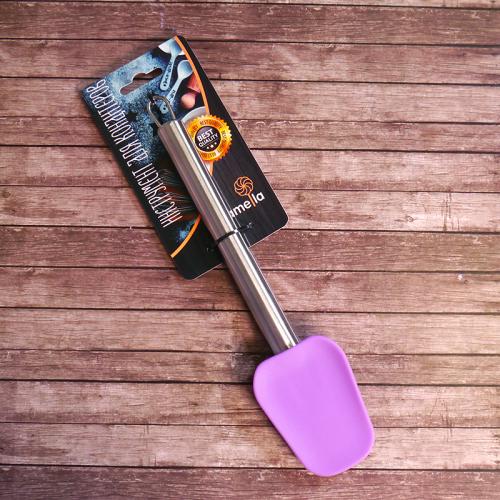 Ложка кондитерская 28 см силиконовая, металлическая ручка