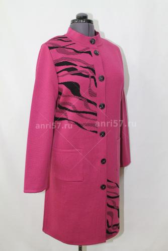 Пальто, св.слива+чёрный