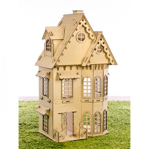 Конструктор «Кукольный домик», 2 этажа, фанера — 3 мм