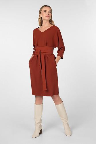 Платье #180593Терракотовый