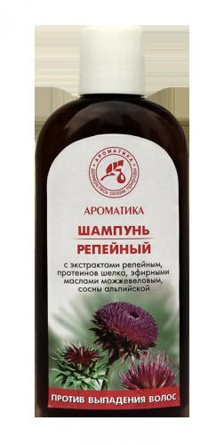 Шампунь репейный Против выпадения волос (с натуральными маслами, экстрактами и на натуральном соке)