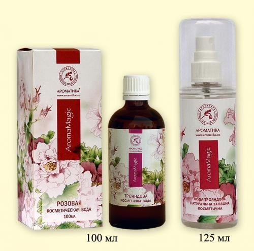 Вода душистая Розовая, 100 мл (натуральная косметическая для ухода за кожей лица и шеи) (натуральная косметическая для ухода за кожей лица и шеи)