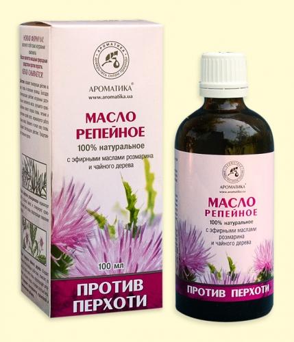 Репейное масло Против перхоти (производится из корней репейника+смеси эфирных и растительных масел)