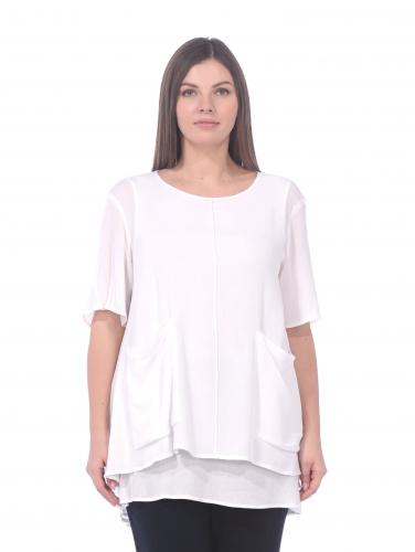 Блуза 191510 бел 1500р