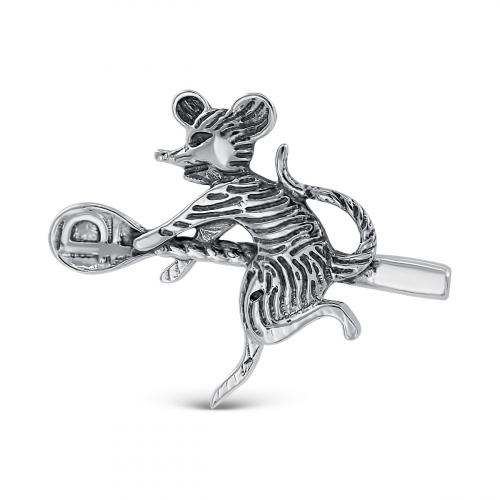 Мышь кошельковая из серебра с чернением, 2 см. Серебро России