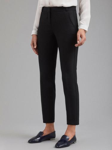 Укороченные брюки со вставками