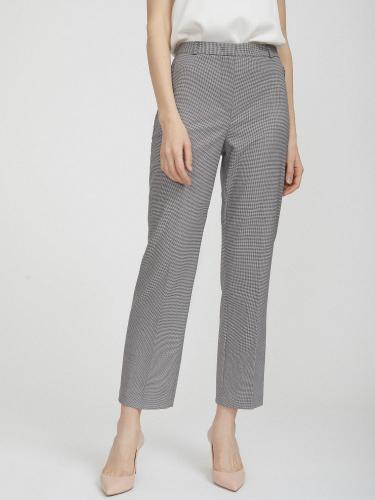 Укороченные брюки в гусиную лапку