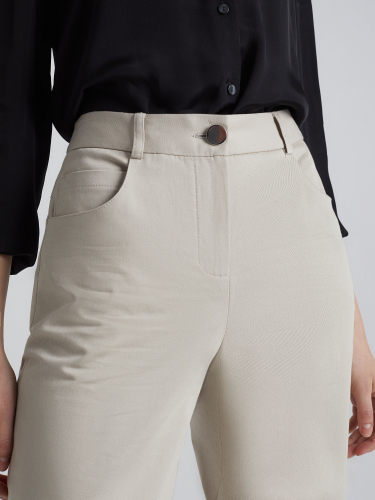 Укороченные брюки из плотного хлопка