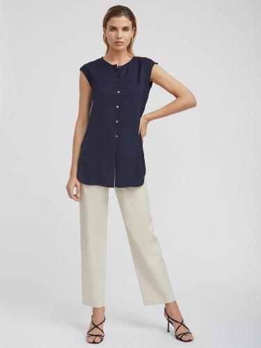 Удлиненная блуза на пуговицах