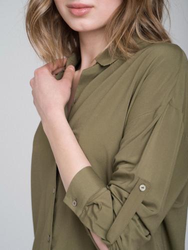Блуза с подворачиваемыми рукавами
