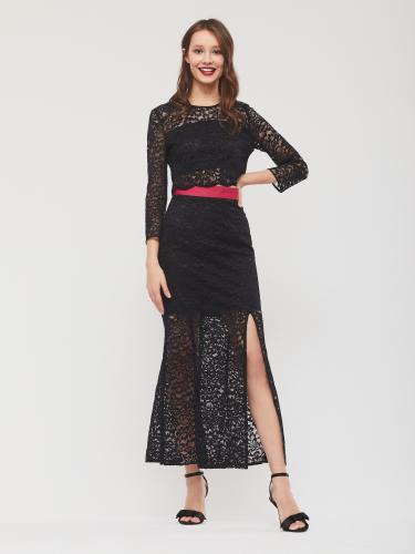 Кружевной костюм из юбка и топа