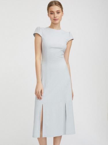 Платье длины миди с разрезами