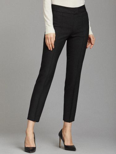 Укороченные брюки с разрезами