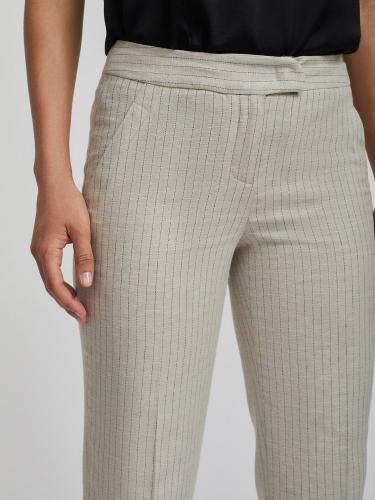 Льняные брюки в полоску