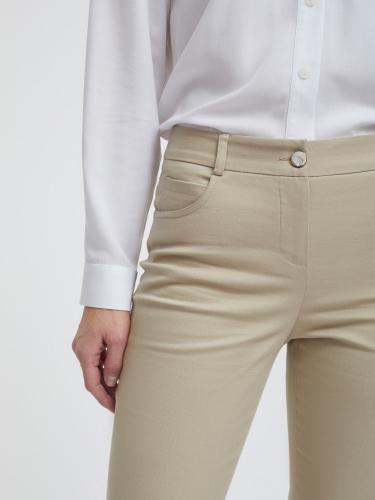 Облегающие брюки из хлопка