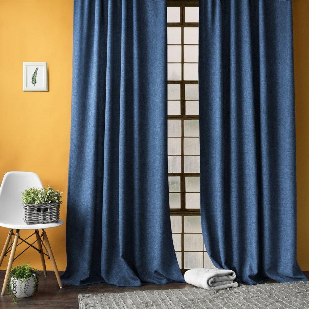 Картинки синих штор