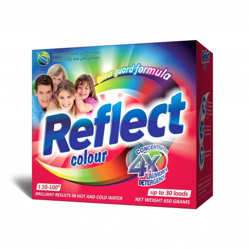 Reflect Colour Стиральный порошок  концентрированный для цветных и темных тканей 650 г.