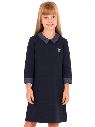Платье #167502Темно-синий99/гусиная лапка мелкая синий