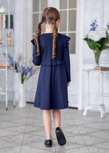 Платье #199182Дакота т.синий