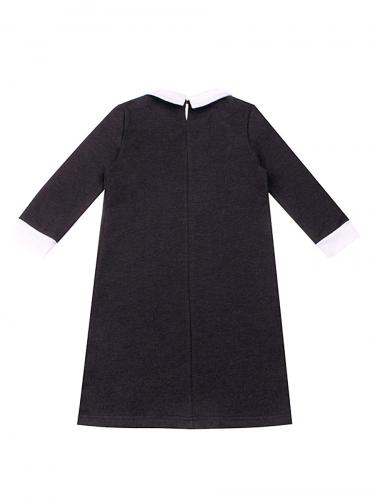 Платье #147970Антрацит/белый