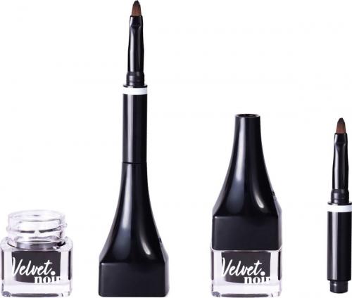 VS/ Подводка гелевая для глаз с кисточкой  Velvet Noir тон 01
