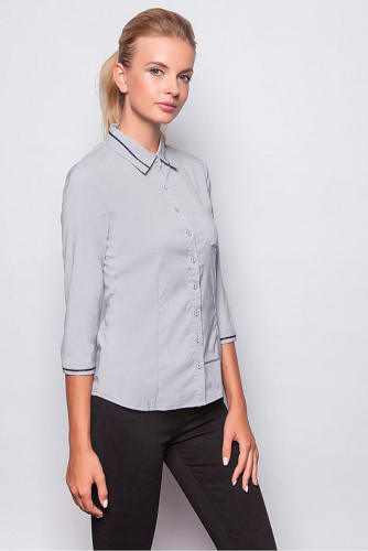 Блуза #209719Серый