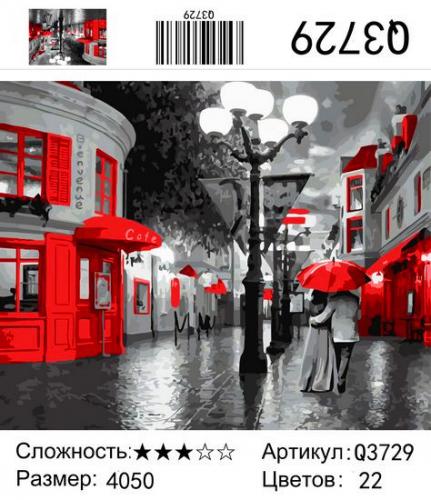 Q3729 Картины-раскраски по номерам 40х50