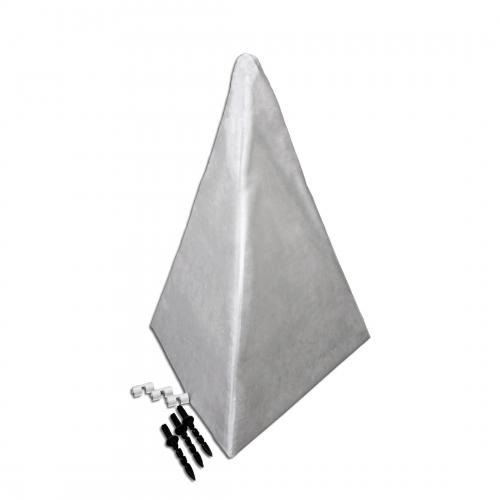 Укрытие для кустов и деревьев ПВХ пирамида 1,5 м основание 75 см