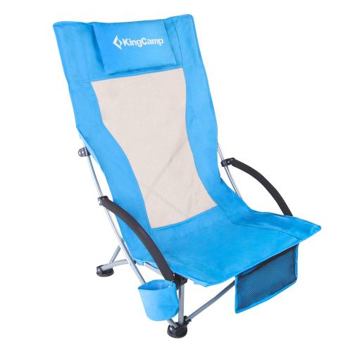 2595р. 2948р. 1901 Portable High Sling Chair  кресло скл. cталь, синий, 59х70х24/92