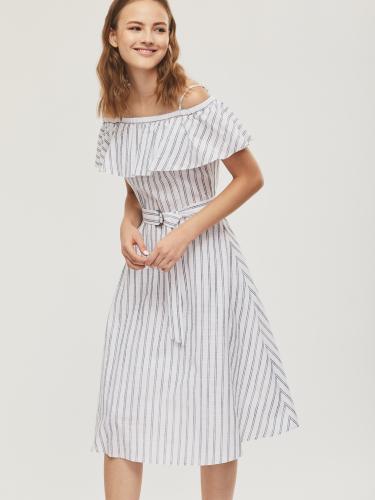 Платье из хлопка с воланом