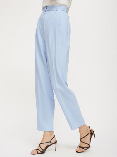 Прямые брюки с защипами