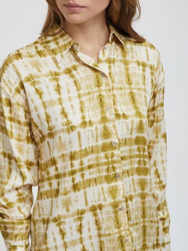 Рубашка с абстрактным принтом