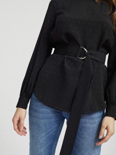 Блуза с блестящим принтом