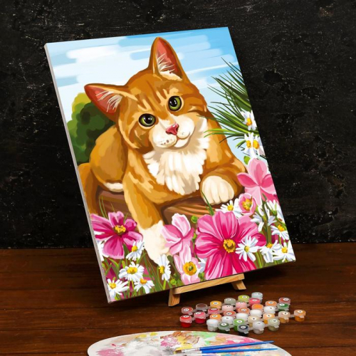 Картина по номерам на холсте с подрамником «Котик» 40×50 см