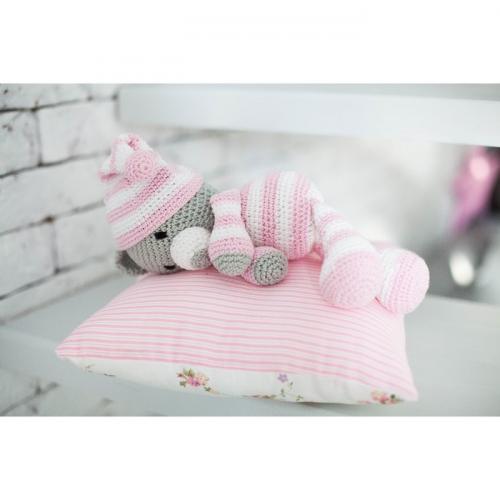 Амигуруми: Мягкая игрушка «Сонный мишка Уолт», набор для вязания, 10 × 4 × 14 см